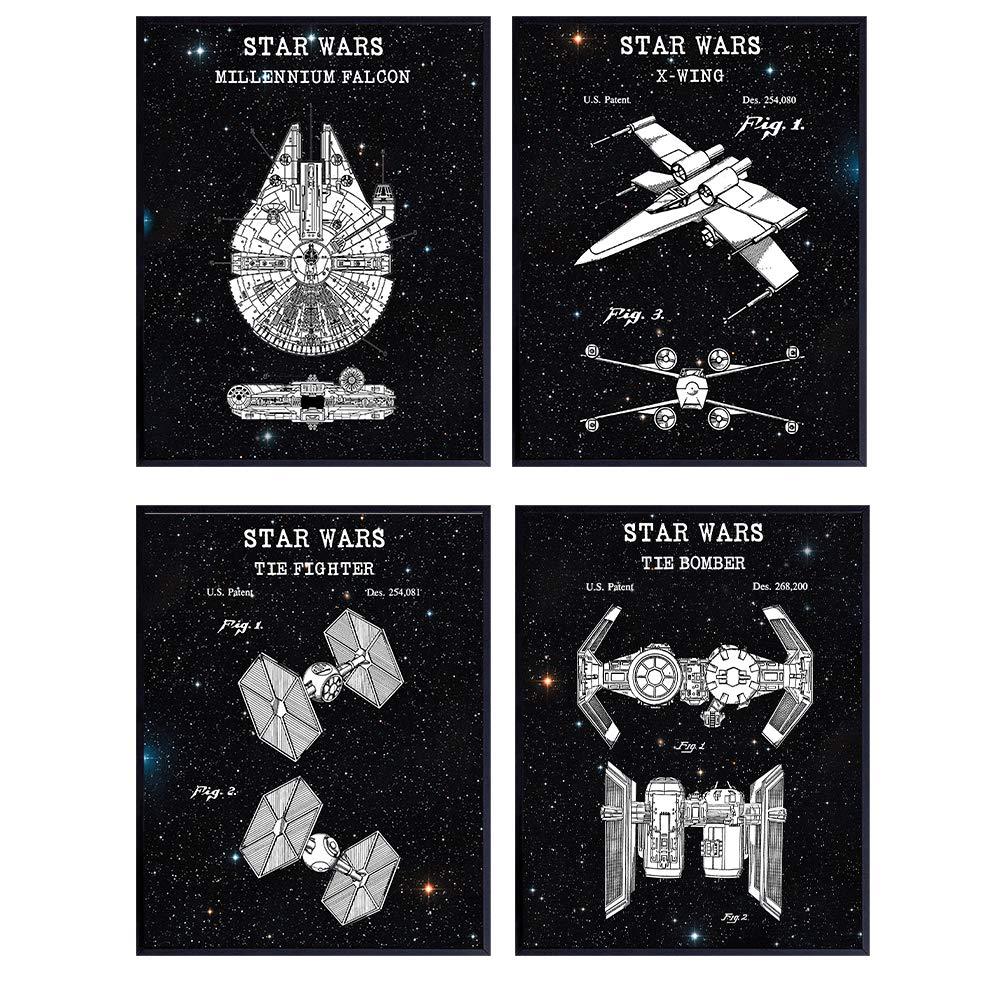 Geek Groomsmen Gift Best Friend Gifts Geek Gift Gift For Nerd Anniversary Gifts Millennium Falcon Star Wars Wall Art Star Wars Poster