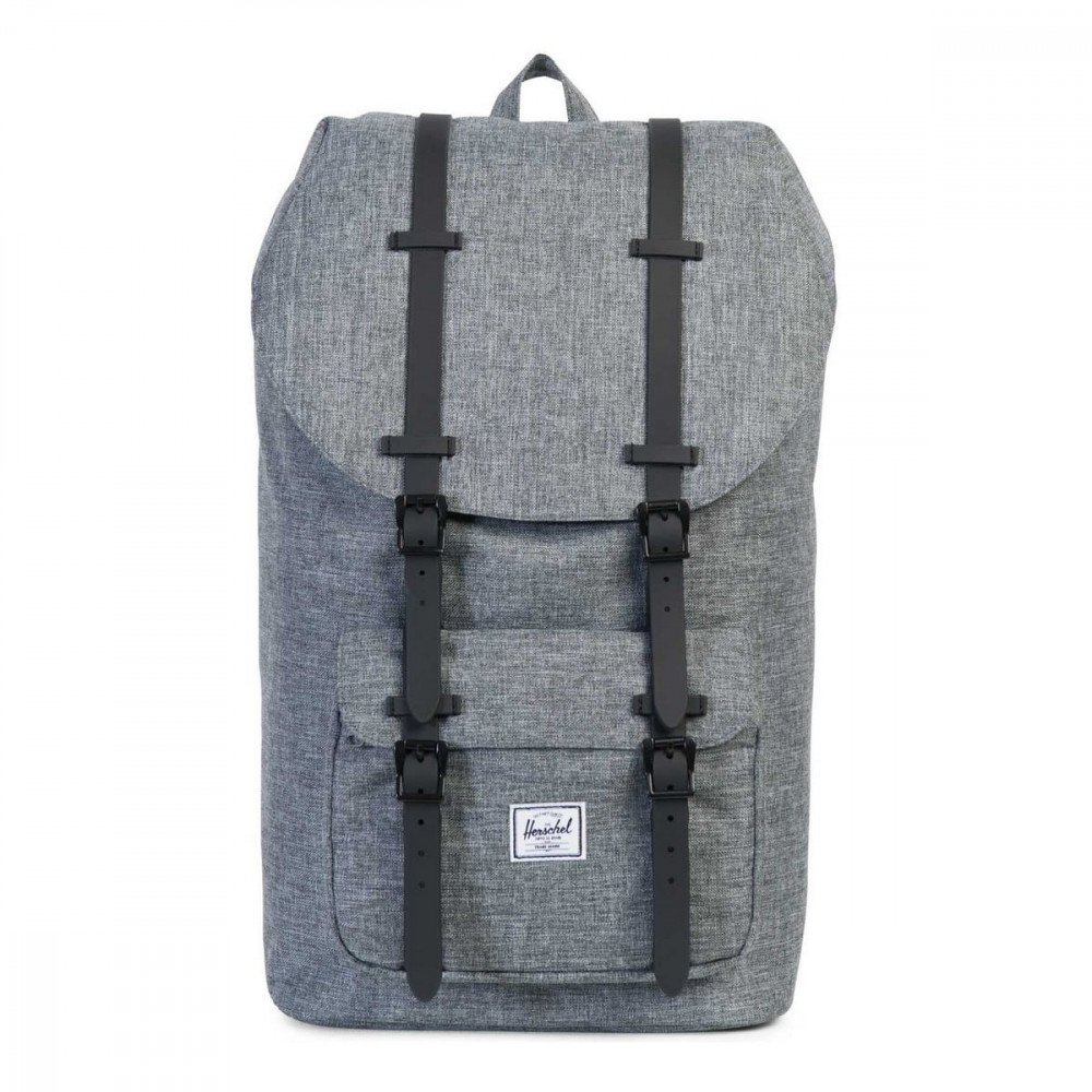 Herschel Supply ハーシェルサプライ バックパック リュックサック LITTLEAMERICA RUBBER - RAVEN CROSSHATCH x BLACK 10014-01132   B078LC3PYM