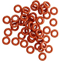 SNOWINSPRING 50 Pcs Silicone O Ring Seal Washers 8mm x 4mm x 2mm Red