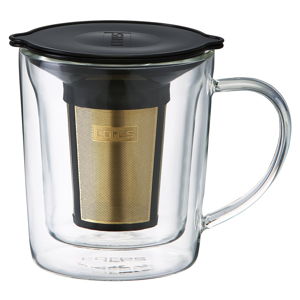 Cores GOLD FILTER DOUBLE WALL MUG C402【Japan Domestic genuine products】 by Oishi and Associates (Image #1)