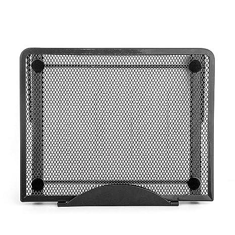 HKJhk Cojín del Estante de enfriamiento del radiador del Ordenador portátil Plegable Multifuncional Perezoso Soporte de
