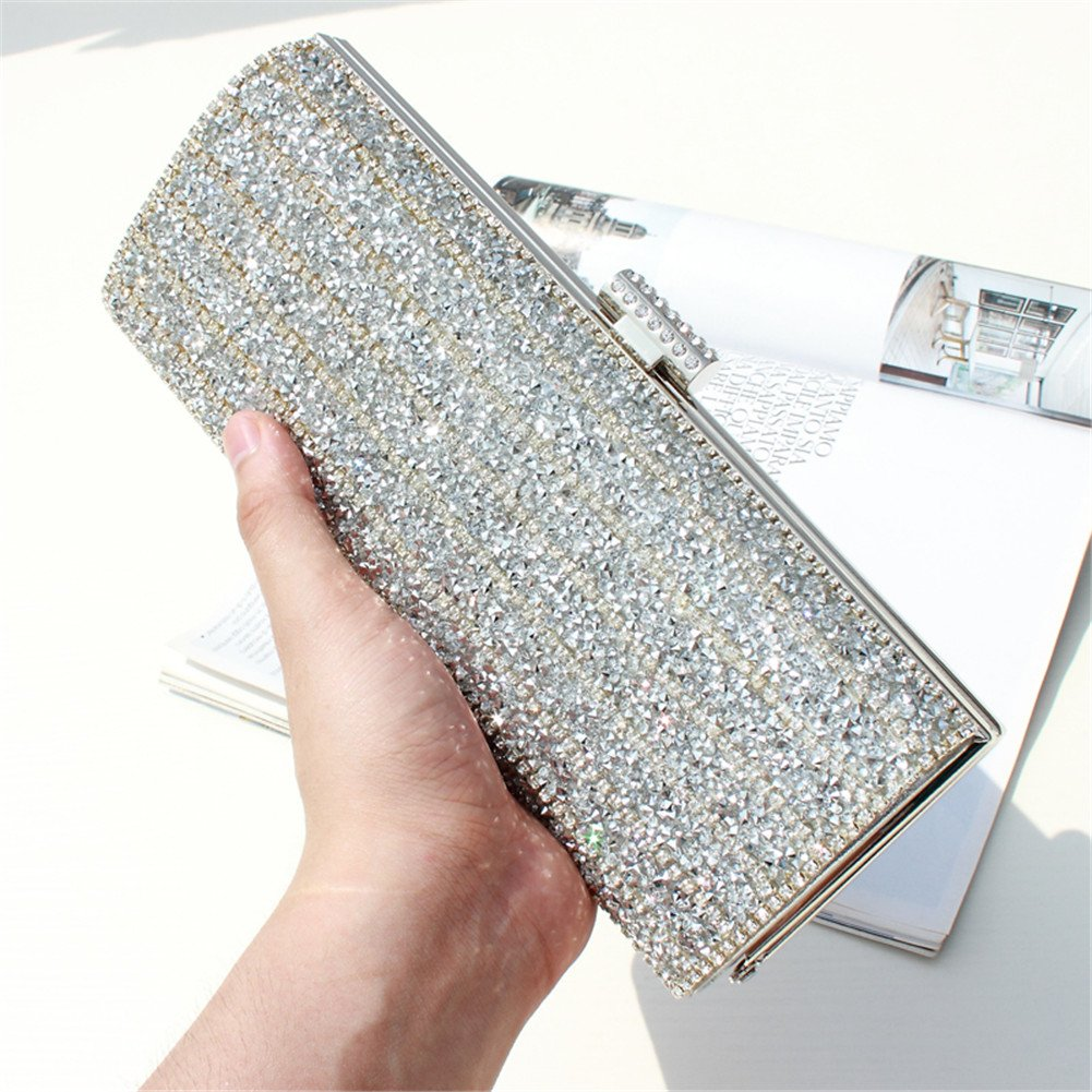 Women\'s Evening Diamond Cultches Wallet Purse Bag Ladies Bridal Fashion Banquet Dinner Party Handbag