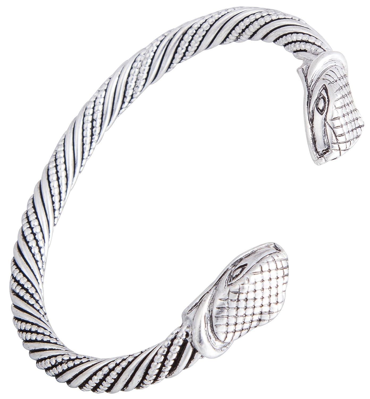 2017 Top Quality Vintage Viking Snake Head Bangle&Bracelets Jewelry Men and Women Wristband Cuff Bangle Gifts Qiju B06ZZMLNGW_US