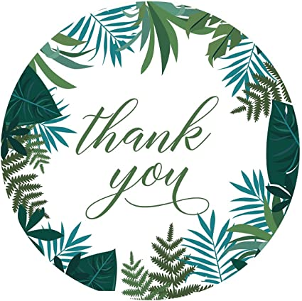 Amazon Com Andaz Press Tropical Palm Leaves Round Circle Label Stickers 2 Inch Green And Aqua Thank You 40 Pack Health Personal Care Tropical leaf stickers created from my watercolor ilustration. andaz press tropical palm leaves round circle label stickers 2 inch green and aqua thank you 40 pack