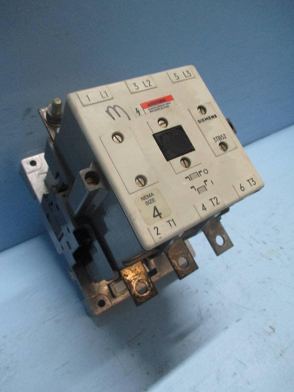 siemens 3tb5217 0a contactor size 4 200a 600vac max no coil rh amazon com