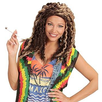 NET TOYS Peluca Rasta | Pelo Postizo Rastafari | Cabello Jamaicano | Peluca con Dreads