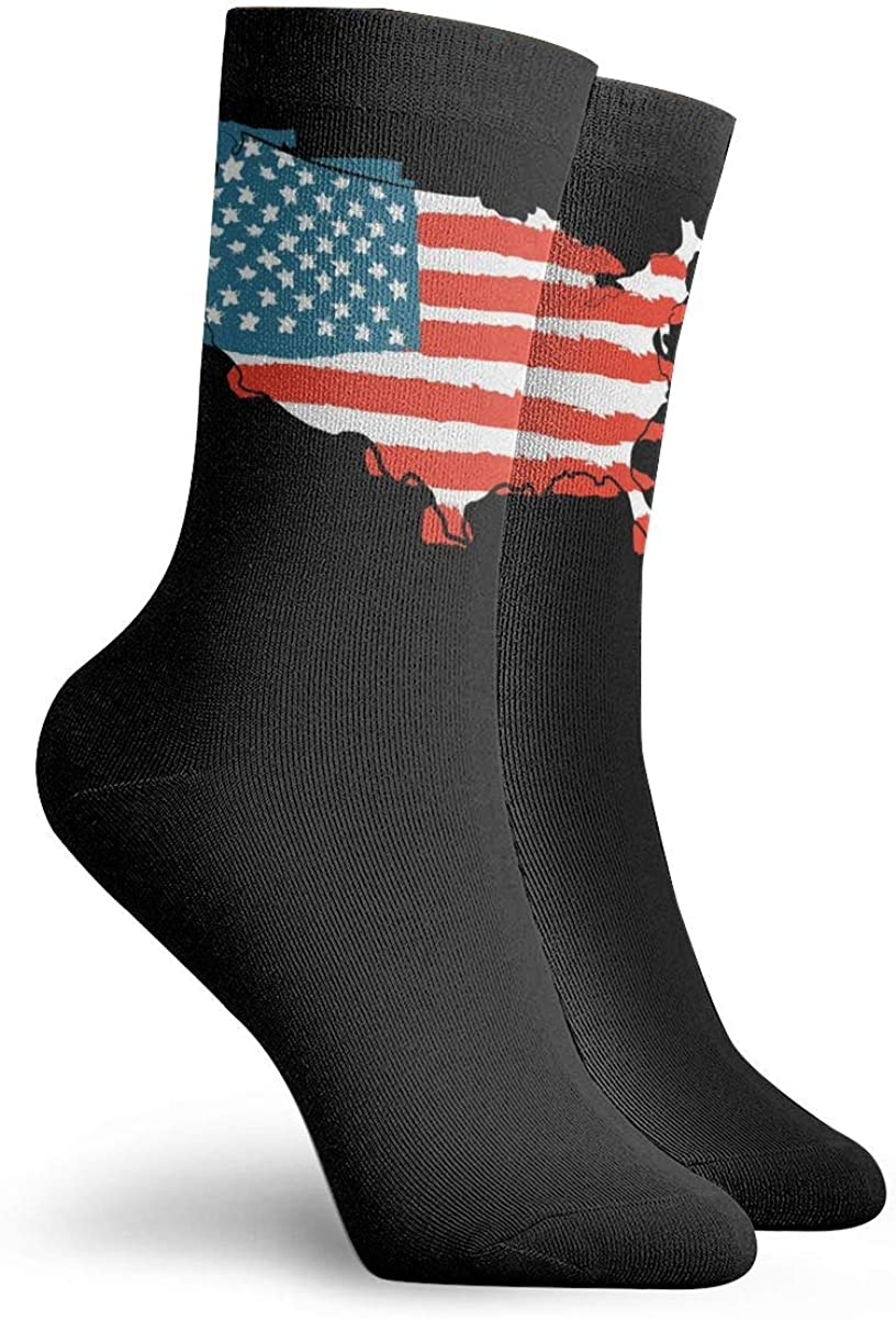 Wrestling USA Flag Socks Womens Comfort Crew Sock Mens Moisture Wicking Crew Sock