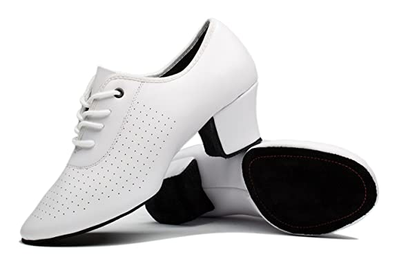 DIY Dance Shoes- Ballroom, Lindy, Swing Gogodance Womens Latin Salsa Wedding Dance Shoes Ladys Ballroom Dancing Sneaker White Leather $28.99 AT vintagedancer.com