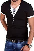 MT Styles BS-501 - T-Shirt 2 in 1 con scollo a V