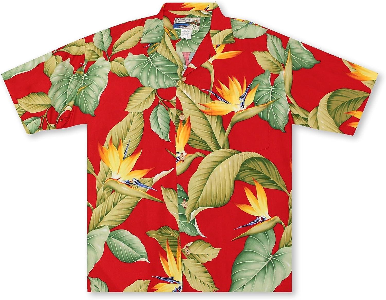 Paradise Found Waimea Casuals Mens Airbrush Bird Of Paradise II Shirt