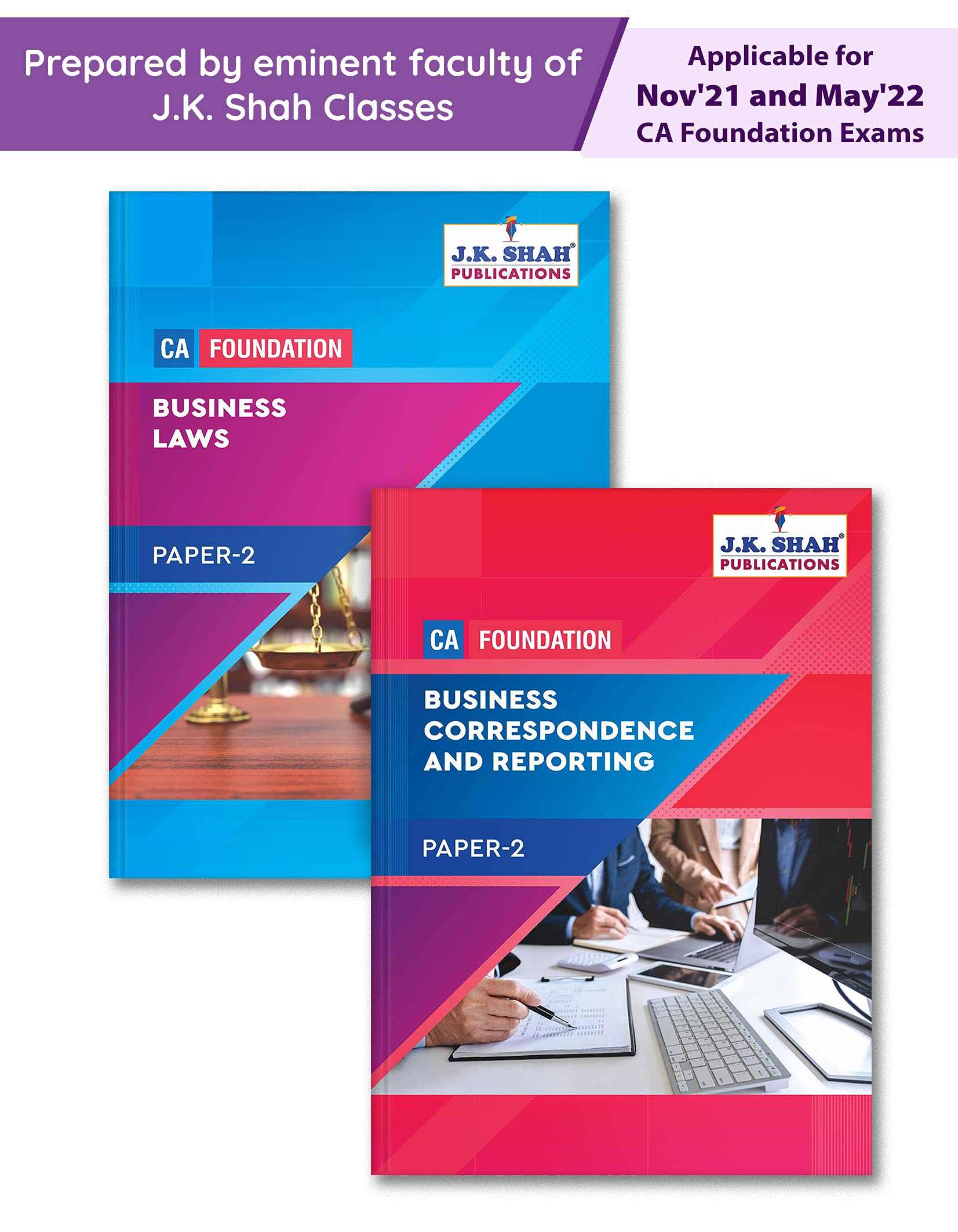 ICAI CA Foundation Notes   Paper 2 Business Law and Business Correspondence & Reporting  JK Shah Classes   Nov 21 and May 22 Exam   Theory & MCQs