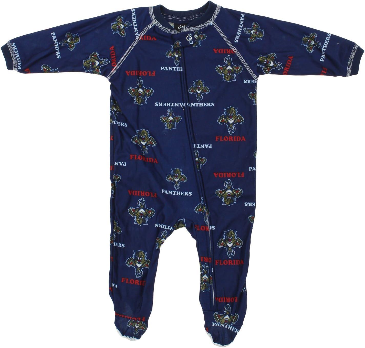 0-24M NHL Infant Baby Full Zip Raglan Logo Print Coverall Teams Option