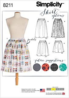 product image for Simplicity 8211 Women's Dirndl Pocketed Skirt Sewing Patterns, Sizes 14-22