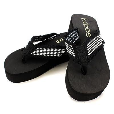 "Bobee Women's 2"" Platform Beach Thong Sandal Thick Strap Flip Flop | Flip-Flops"