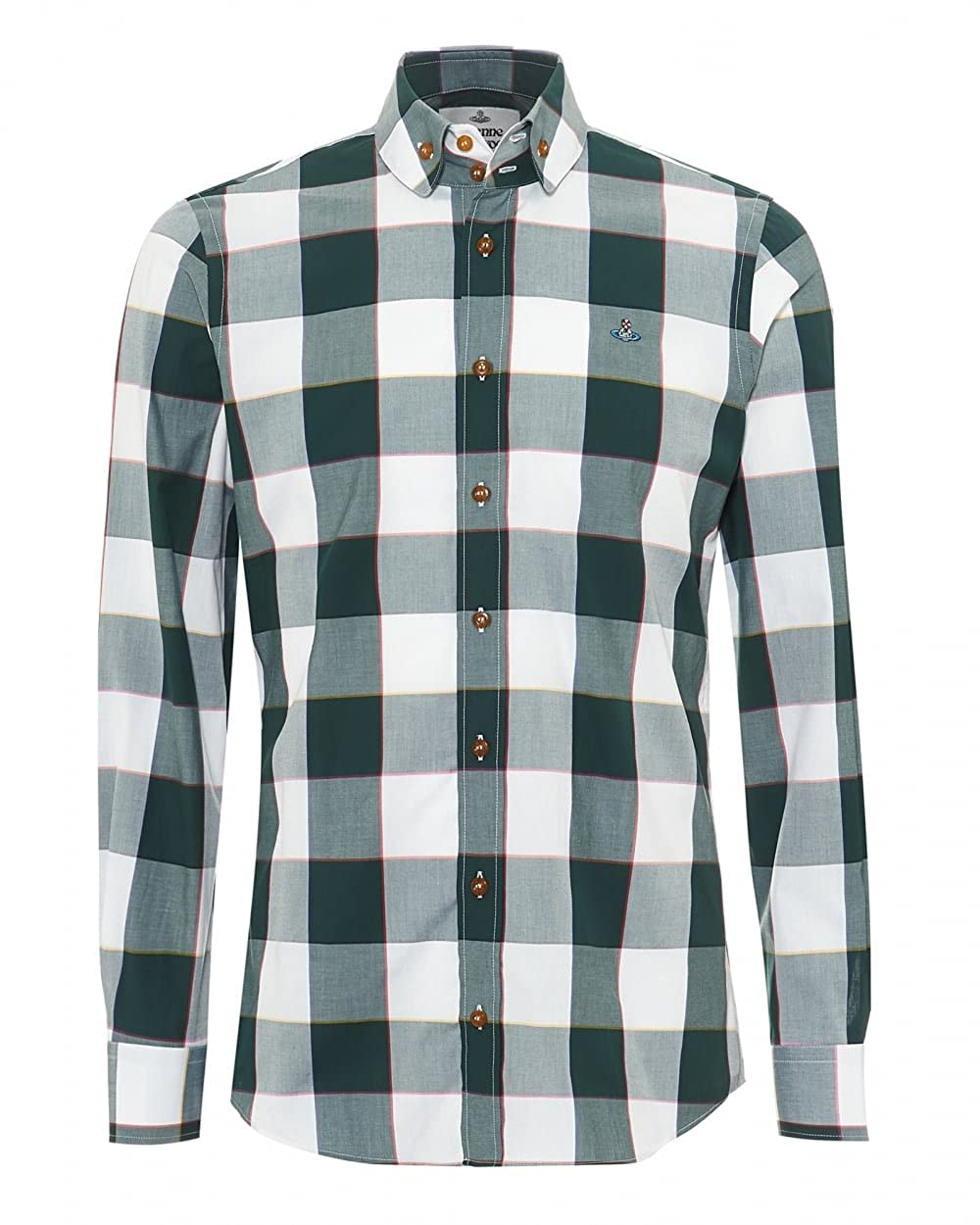 Vivienne Westwood Mens Two-Button Krall Gingham Shirt