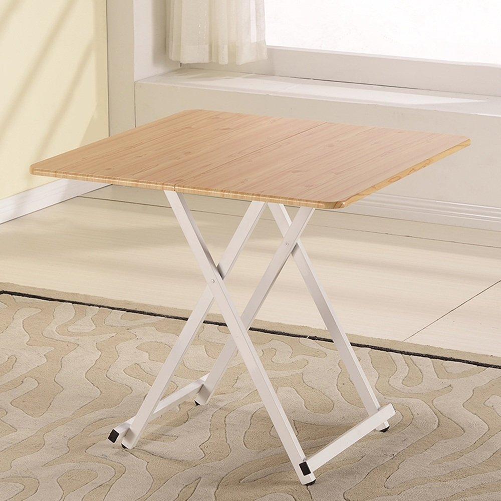 ZZHF 折りたたみテーブル/正方形テーブル/ポータブルテーブル/子供のライティングデスク/ラップトップテーブル/ホームソリッドウッドストレージテーブル/ 80 * 80 * 72CM デスク ( 色 : G g ) B07BGWMKWP G g G g