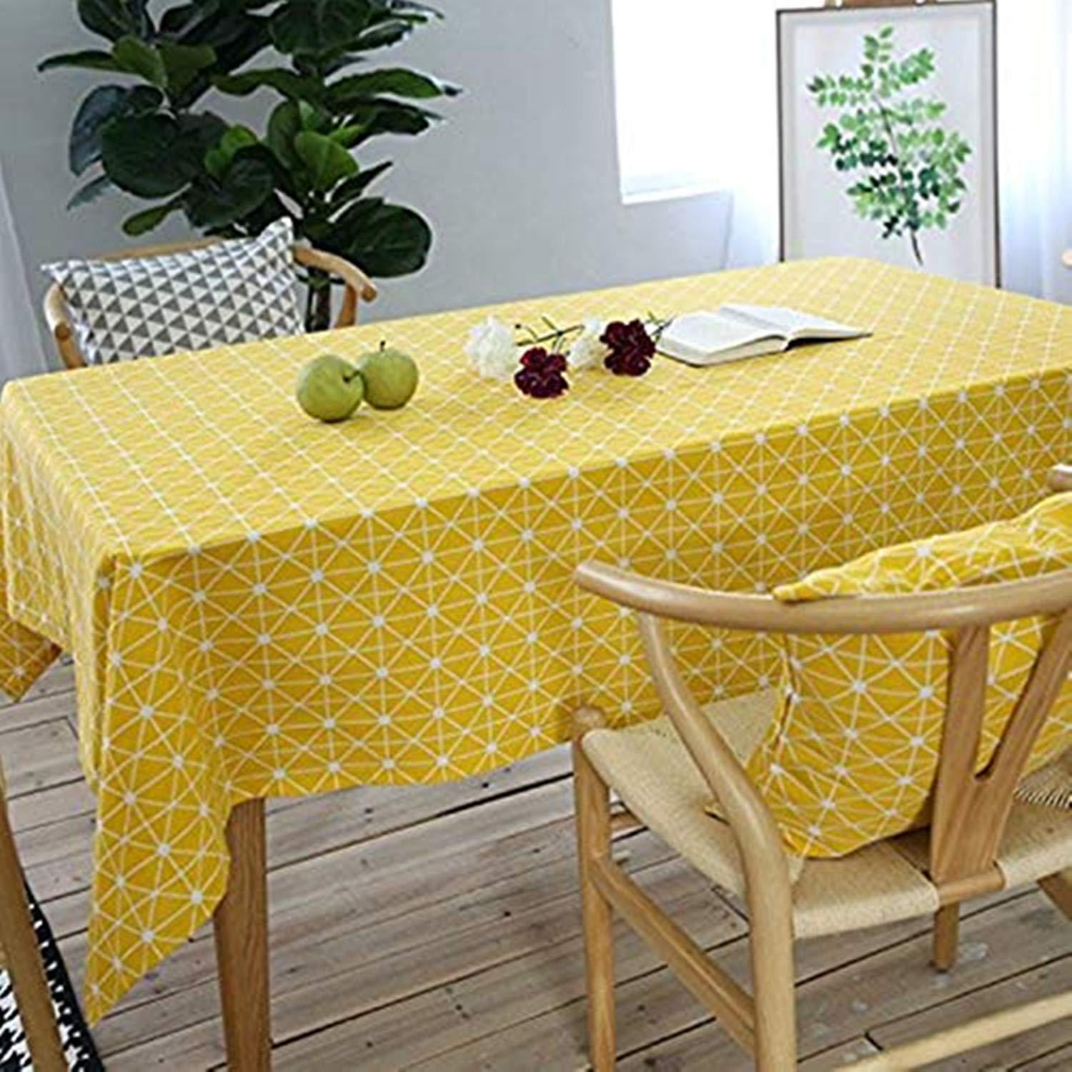 Asvert Tablecloth Rectangle Nordic Style Country Style House Red White Plaid Table Covers, Suitable For The Restaurant, Cafe, Hotel (140x220cm)
