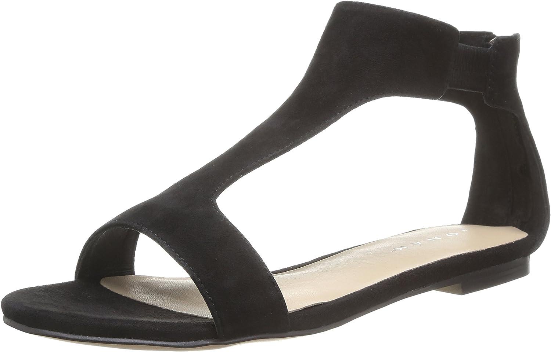 Sandales à talon plat , en velours noir JONAK