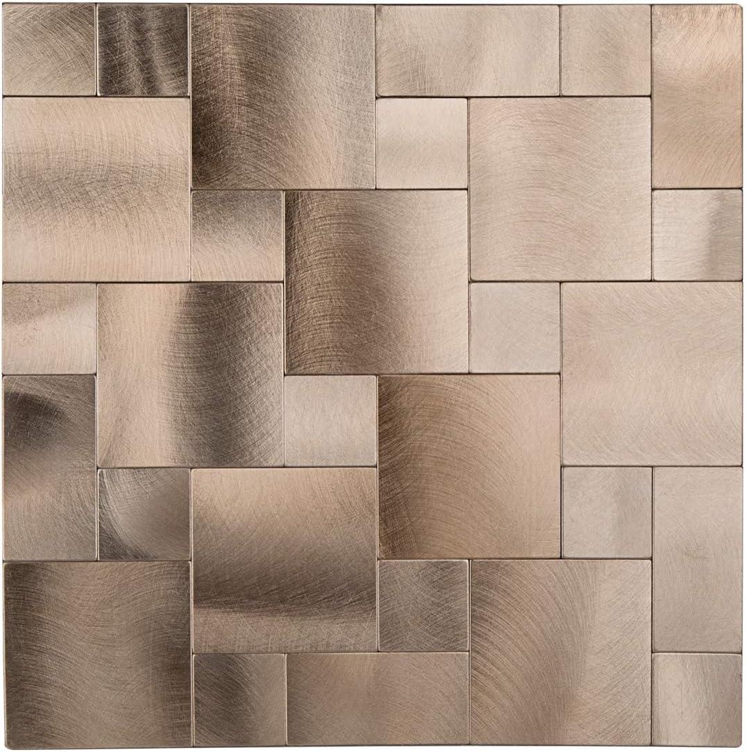 - Amazon.com: Decopus Metal Tile Backsplash Peel And Stick (IS50