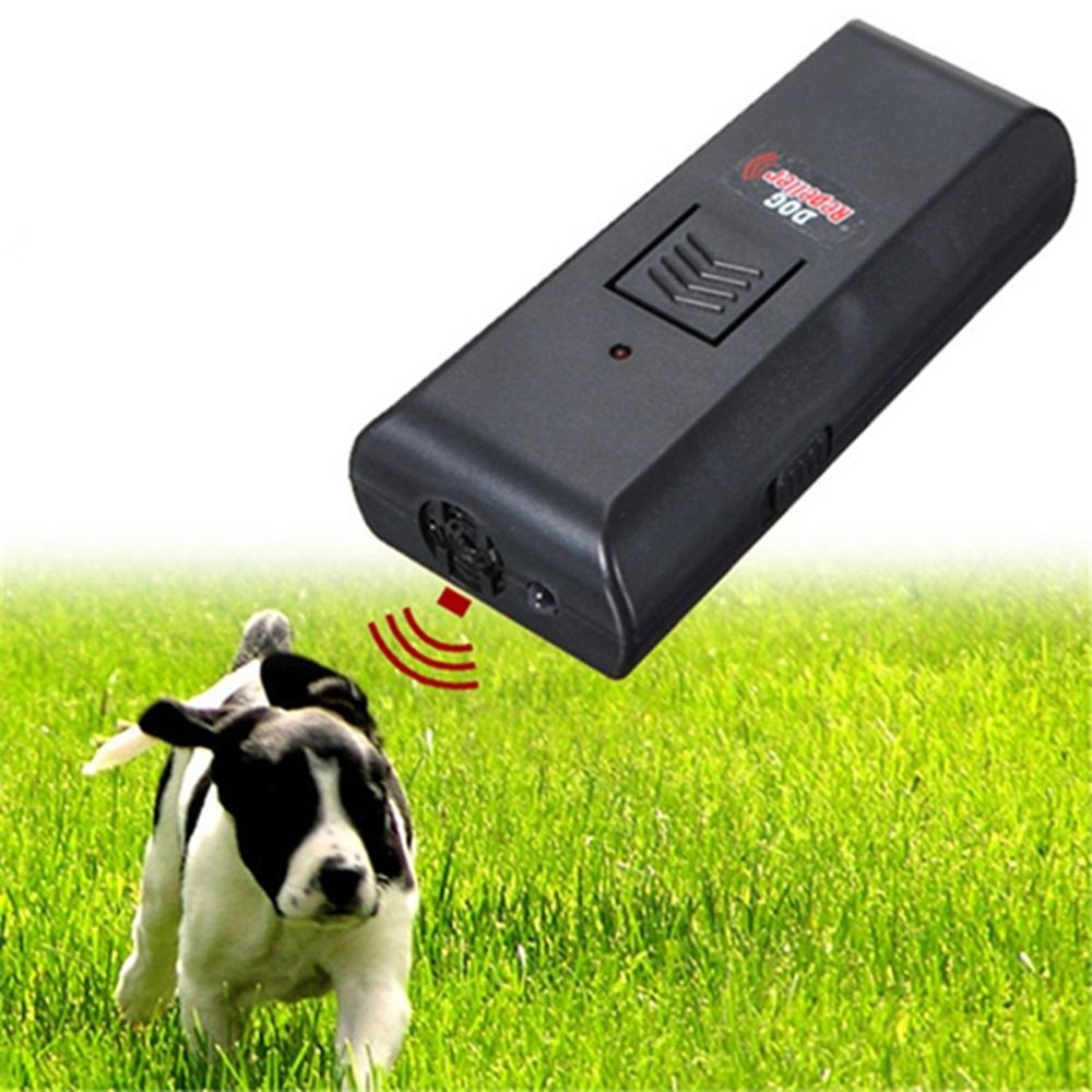 Pet Dog Ultrasonic Aggressive Dog Repeller Train Stop Barking Training