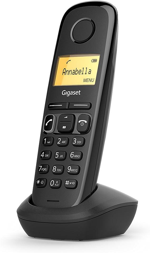 Gigaset A170 - Teléfono Inalámbrico, Pantalla Iluminada, Agenda de 50 Contactos, Color Negro: Gigaset: Amazon.es: Electrónica