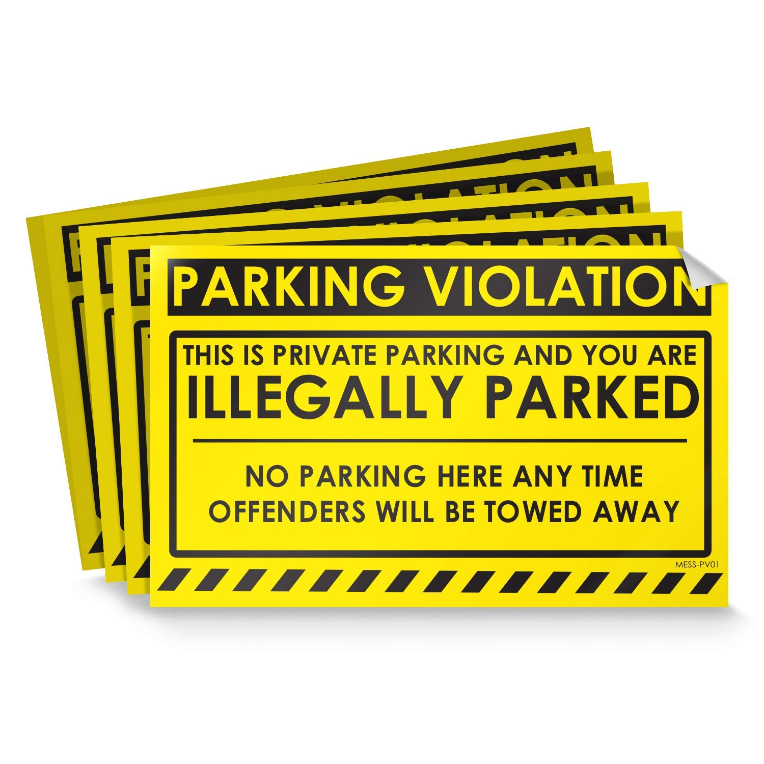 Parking violation stickers for cars fluorescent yellow 100 no parking illegally parked cars in private parking areas hard to remove super sticky no park