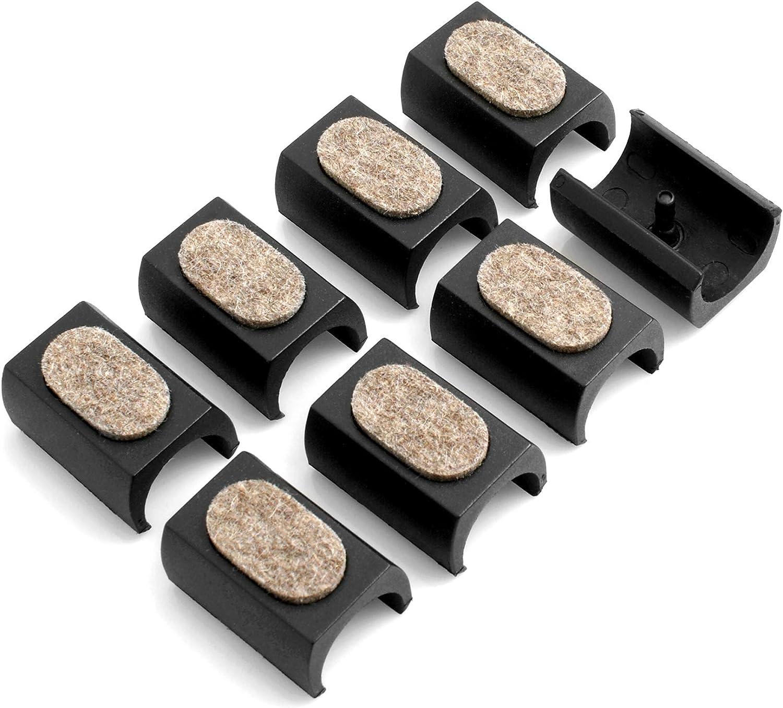 en T/éflon Gleit Gut Klemm Patins pour chaise cantilever Noir anti-vibration pour tubes de /ø 23//à 27,7/mm avec c/ônes//fiches