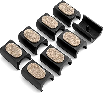 Design61 Set di 8 feltrini per sedia cantilever, Ø 24 25 mm, Silencer