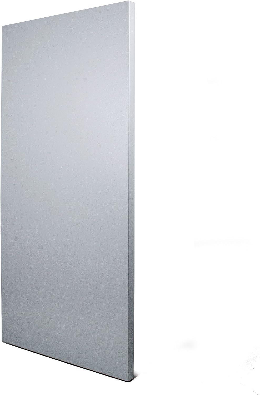 banjado Design Magnettafel grau Wandtafel magnetisch 37x78cm gro/ß Metall Pinnwand Memoboard mit Magneten und Montageset