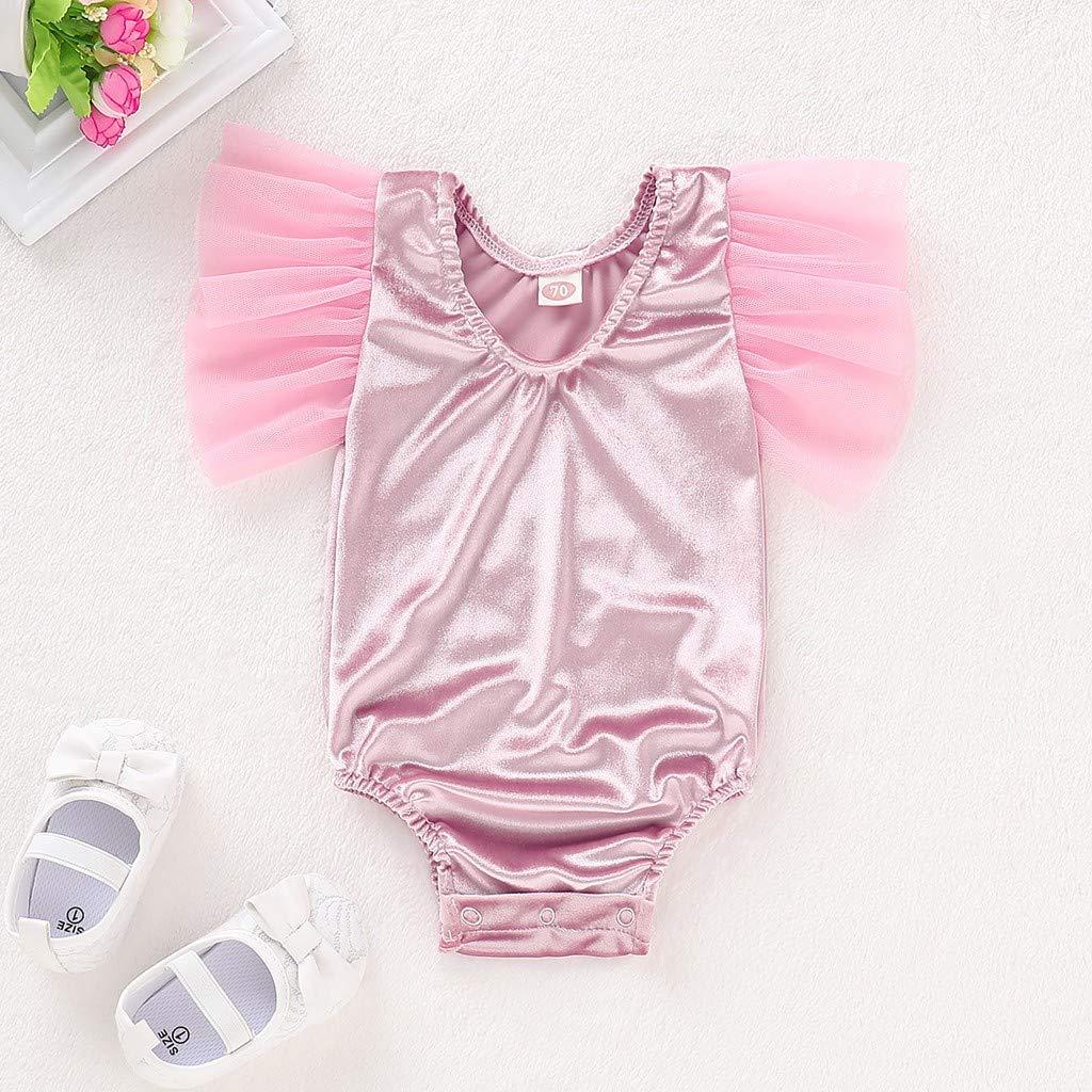 663249df1 Amazon.com   New Arrivel Littlr Girls Patchwork Gauze Short Sleeve ...