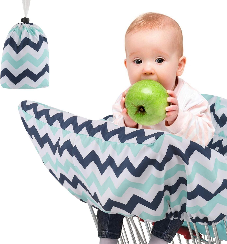 Funda de asiento para carrito de la compra para silla alta de bebé, asiento de seguridad completa, funda para silla de ruedas, lavable a máquina, cubierta plegable para carrito de bebé