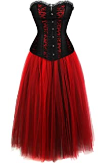 Grebrafan Damen Breathable Corset Party Kleid Corsage mit Multi ... a5c6634155