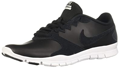 0b079d24b93b Nike Women s WMNS Flex Essential Tr Low-Top Sneakers Multicolour  Black White Lt