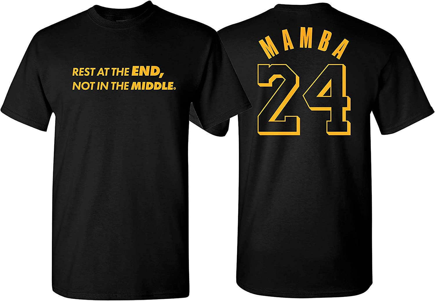 NuffSaid Kobe Rest at The End Not in The Middle Mamba Memorial T-Shirt - Unisex Farewell 24 Tribute Tee
