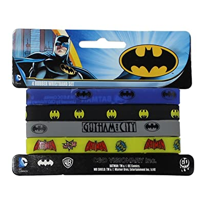 Batman DC Comics Batman 4 Mini Rubber Wristband Set: Toys & Games [5Bkhe1404848]