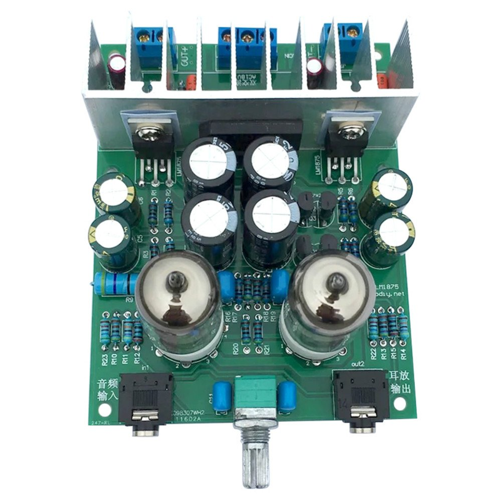Aoshike Hifi 6j1 Tube Amplifier Audio Board Lm1875t Headphones Frequency 20w Based Lm1875 Amplifiers For Diy Kits Pre Amp Moudle Electronics