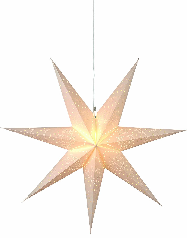 Best Season Papierstern'Sensy Star 70' circa 70 x 70 cm, inklusive Kabel, Vierfarb-Karton, crè me 231-20 231-20_cream-70cmØ