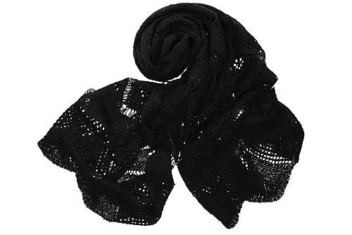 Sciarpa donna ROMEO GIGLI sciarpa nera tinta unita in box confezione