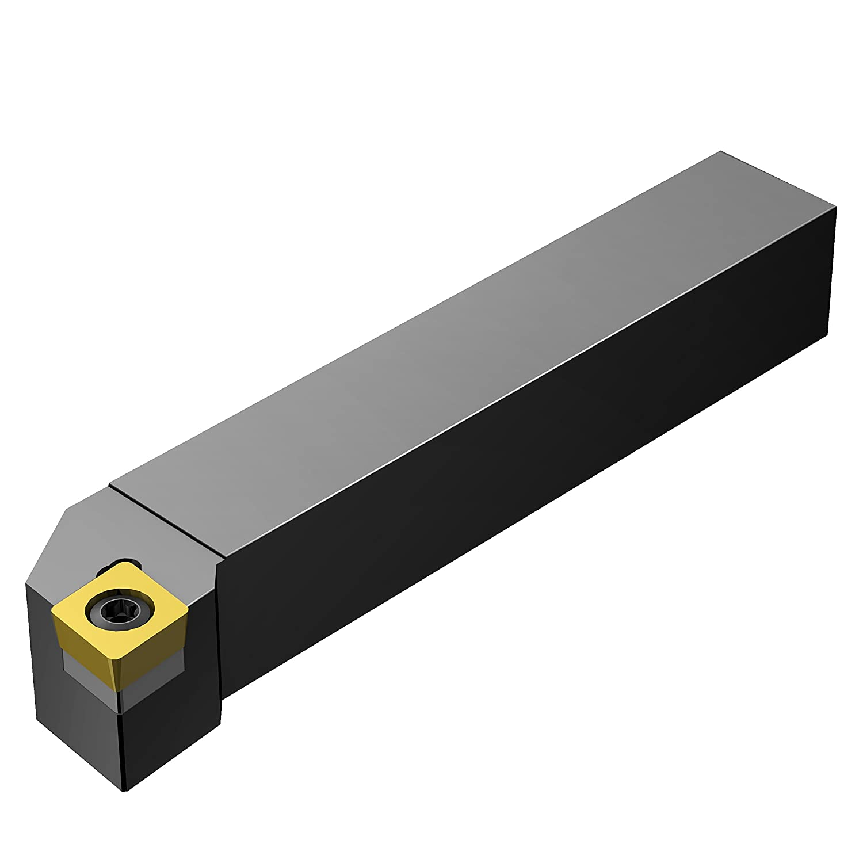 125mm Length x 16mm Width External 1.5 Steel 1 Insert Size Right Hand 16mm Width x 16mm Height Shank CCMT 2 Screw Clamp Square Shank Sandvik Coromant SCLCR 1616K 06-S Turning Insert Holder