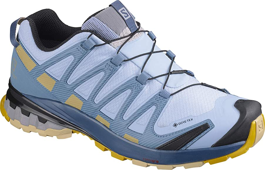 Salomon XA Pro 3D v8 GTX W, Zapatillas de Trail Running para Mujer, Azul (Kentucky Blue/Dark Denim/Pale Khaki), 36 EU: Amazon.es: Zapatos y complementos
