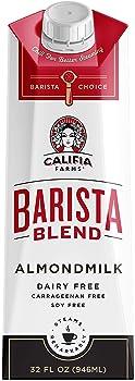6-Pack Califia Farms Almond Milk, Original Barista Blend, 32 Oz