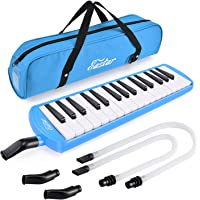 Eastar 32 Key Melodica Instrument Keyboard Soprano With Mouthpiece,Carrying Bag Blue