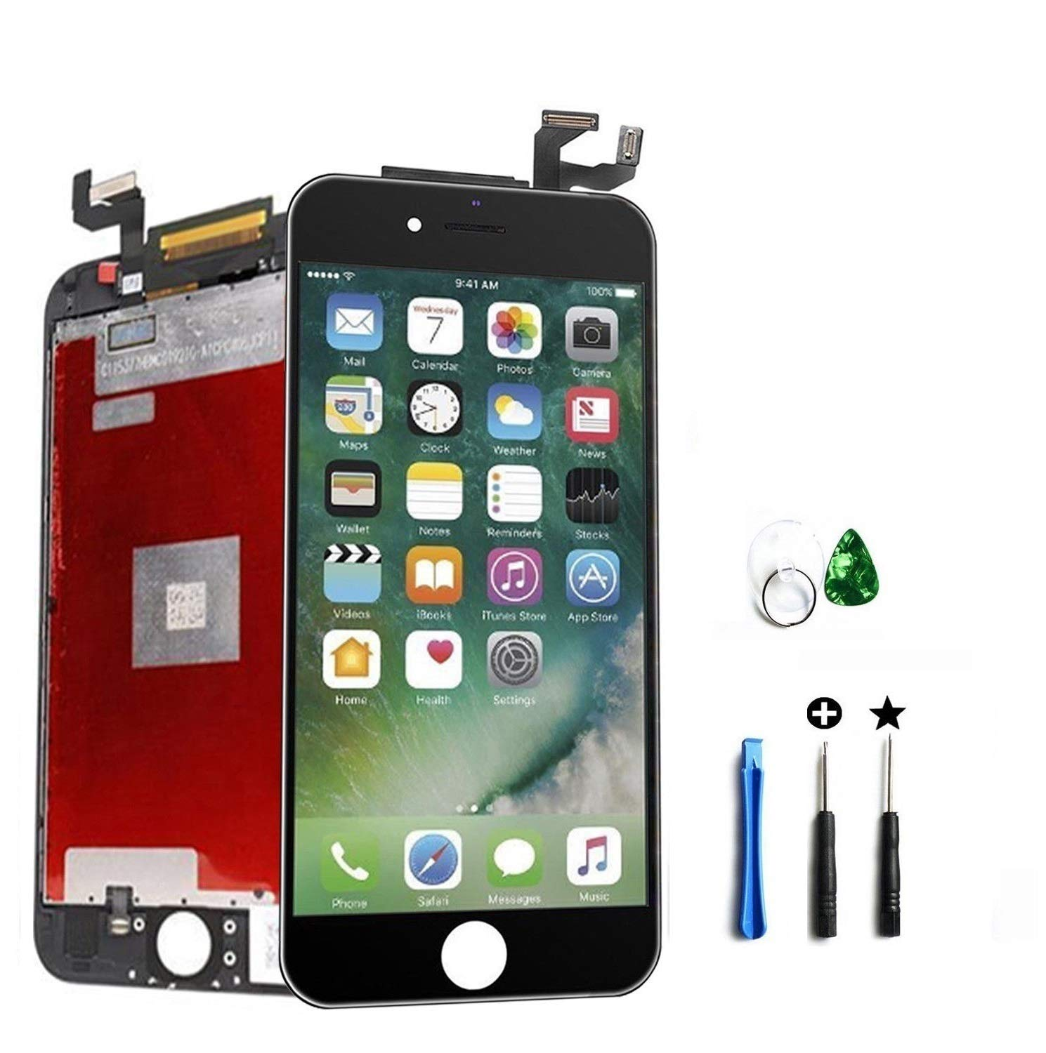 Turtlescreen Premium Quality Replacement Screen Compatible With iPhone 6s 4.7 A1633, A1688, A1700 - White Digitizer Display LCD Touch Screen Glass Frame Assembly