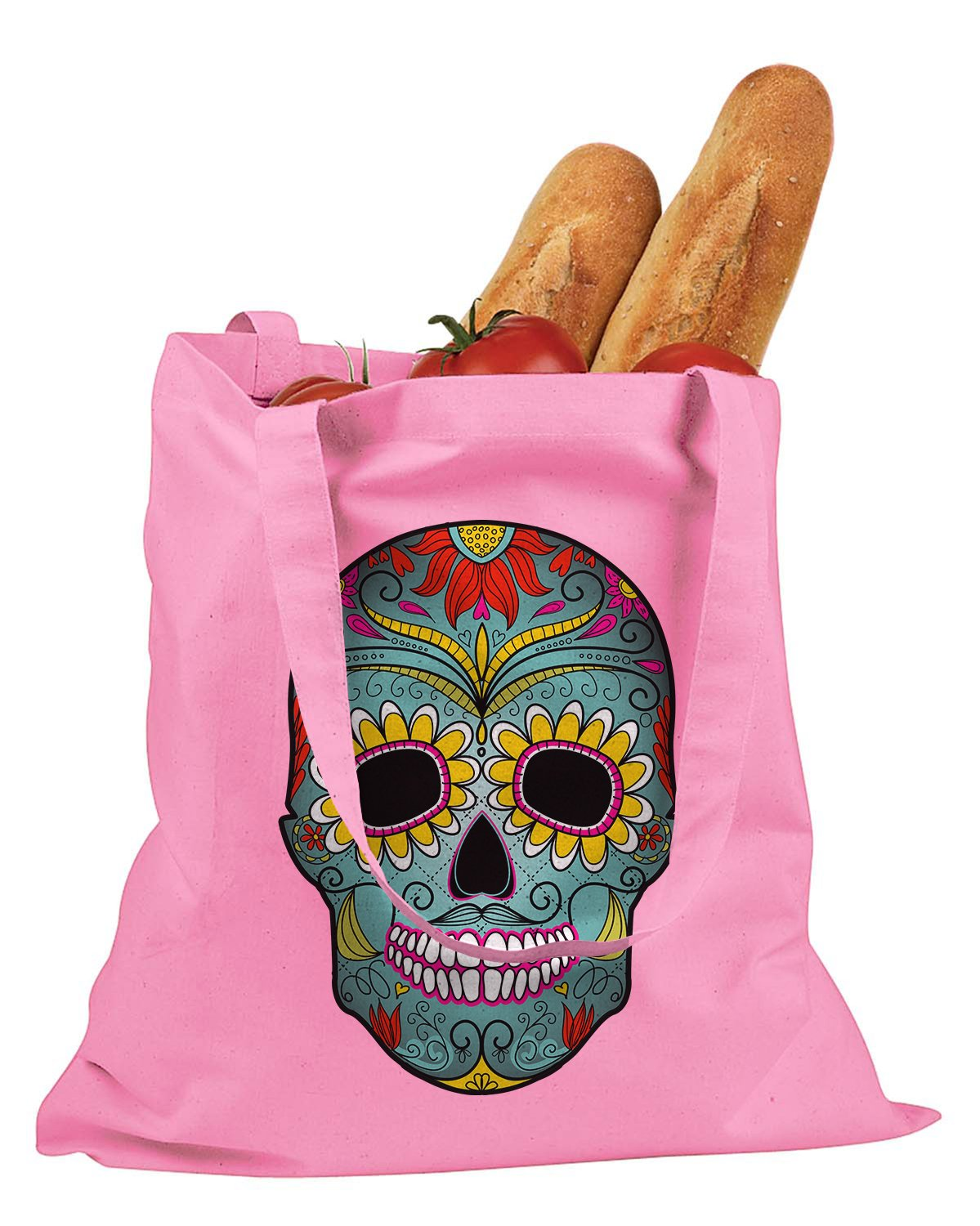 The T-shirt Press Day Of The Dead Mexican Mask Tote Bag (Pink)