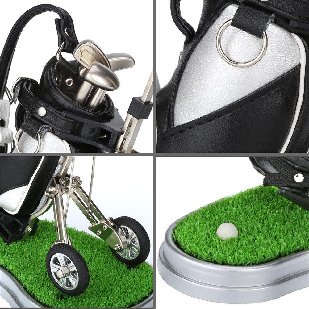 Mini Oficina de regalo de golf Golf soporte para bolígrafo con 3 conjuntos aleación de aluminio Golf bolígrafos, silver with holder: Amazon.es: Deportes y ...