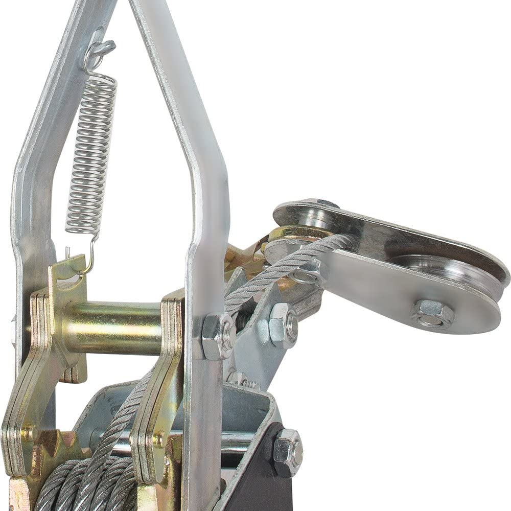 Ovovo 4 Ton Power Puller Cable Puller Winch Industrial Dual Gear Power Puller Tool
