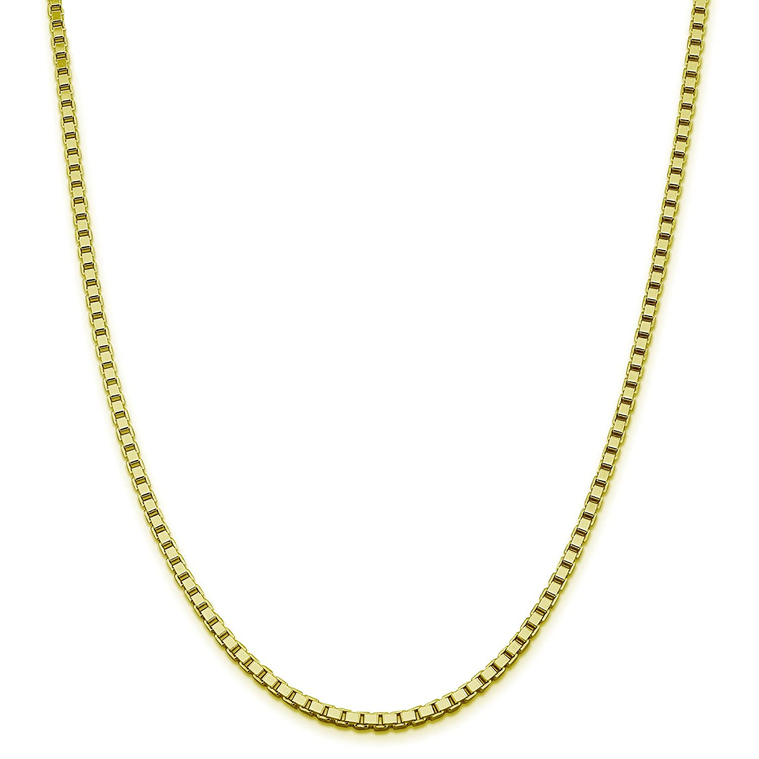 925 Sterling Silver 1.5MM Box Chain Italian Necklace Sturdy and Strong Claps-16-30