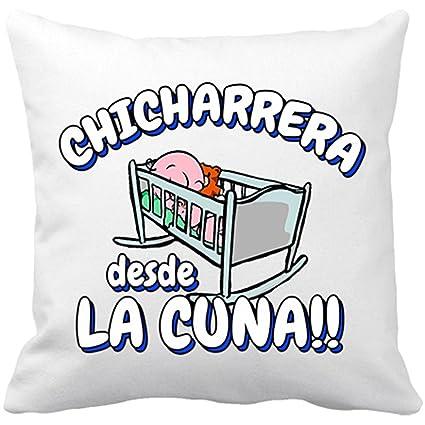 Cojín con relleno Chicharrera desde la cuna Tenerife fútbol - Blanco, 35 x 35 cm