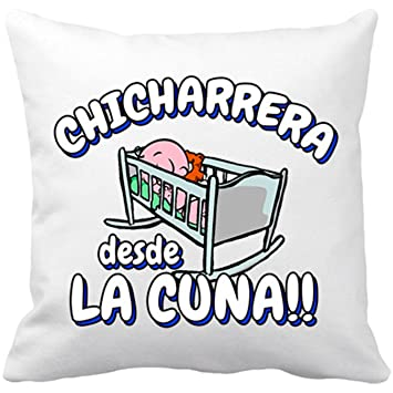 Cojín con relleno Chicharrera desde la cuna Tenerife fútbol - Blanco, 35 x 35 cm: Amazon.es: Hogar