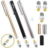 aibow タッチペン スマートフォン タブレット スタイラスペン iPad iPhone Android 3本+ペン先3個 6mm (シルバー+ブラック+シャンパンゴールド)